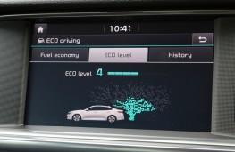 Kia Optima PHEV, eco display