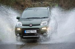 Fiat Panda front in water