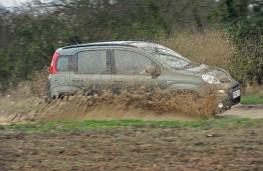 Fiat Panda side muddy