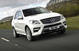 Mercedes ML350 CDi BlueTEC Sport, action