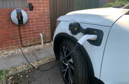 Pod Point, charger hooked up to car
