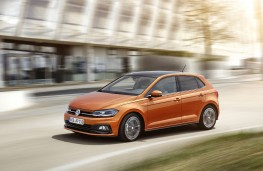 Volkswagen Polo, 2017, front, action