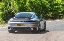Porsche 911 Turbo S, 2021, rear