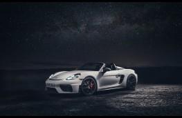 Porsche 718 Spyder at the Dark Sky Park