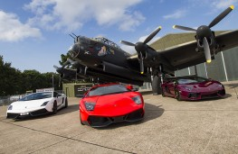 Lancaster bomber with supercars
