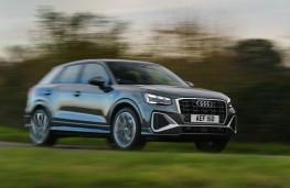 Audi Q2, 2021, front, action