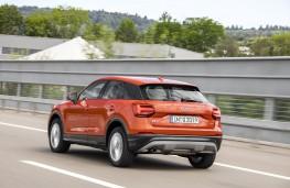 Audi Q2, rear, action