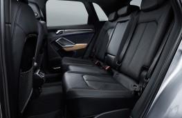Audi Q3, 2018, rear seats