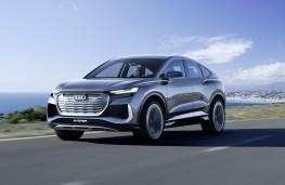 Audi Q4 e-tron Sportback concept, 2020, front, action