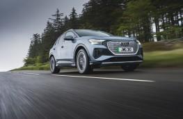 Audi Q4 e-tron Sport, 2021, front, action
