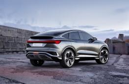 Audi Q4 e-tron Sportback concept, 2020, rear, static