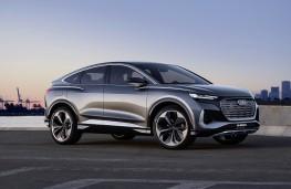 Audi Q4 e-tron Sportback concept, 2020, side