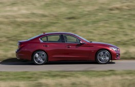 Infiniti Q50 2.0T, side, action