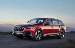 Audi Q7, 2019, side, action