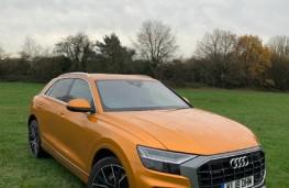 Audi Q8, 2018, front, upright