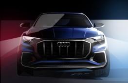 Audi Q8 concept, 2017, sketch, nose