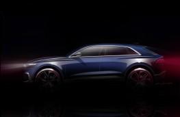 Audi Q8 concept, 2017, sketch, side