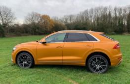 Audi Q8, 2018, side, static