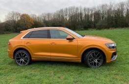 Audi Q8, 2018, side