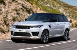 Range Rover Sport HST front action