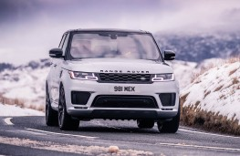 Range Rover Sport HST head-on action