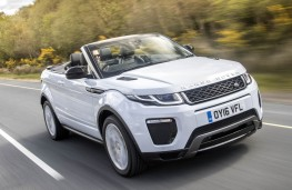 Range Rover Evoque Convertible, front action