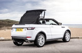 Range Rover Evoque Convertible, hood folding