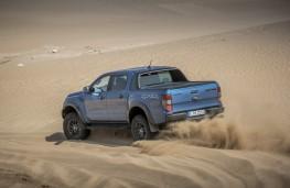 Ford Ranger Raptor, 2019, rear, action