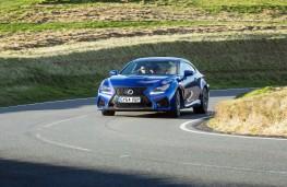 Lexus RC F, front, action