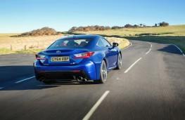 Lexus RC F, rear, action