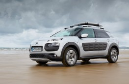 Citroen C4 Cactus Rip Curl, side, action, beach