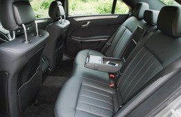 Mercedes E Class, rear seats