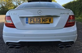 Jamie Vardy, Mercedes C63 AMG, rear