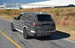 BMW X7, 2018, camouflaged, rear