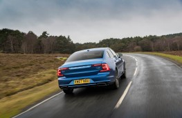 Volvo S90 Recharge T8, 2021, rear, action