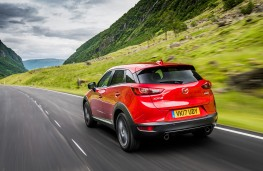 Mazda CX-3, 2017, rear, action