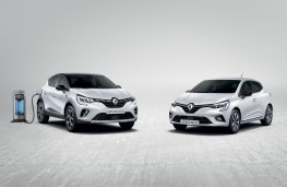Renault Captur E-TECH plug-in hybrid and Renault Clio E-TECH hybrid, 2020, front