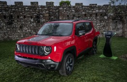 Jeep Renegade PHEV, 2019, front, charging