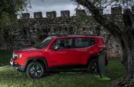 Jeep Renegade PHEV, 2019, side, charging