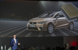 SEAT Ibiza, 2017, reveal, screen