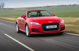 Audi TT Roadster, front, action