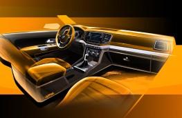 Volkswagen Amarok, 2017, interior, sketch