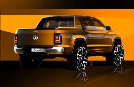 Volkswagen Amarok, 2017, rear, sketch