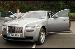 Edward Stephens with Rolls-Royce Ghost