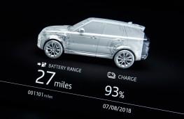 Range Rover Sport P400e, 2018, EV range display
