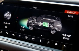 Range Rover Sport P400e, 2018, display screen