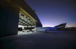 Range Rover, Virgin Galactic, tow, hangar