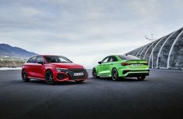 Audi RS 3 Sportback and saloon, 2021, pair
