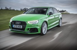 Audi RS3, 2018, front, action