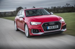 Audi RS4, 2018, front, action
